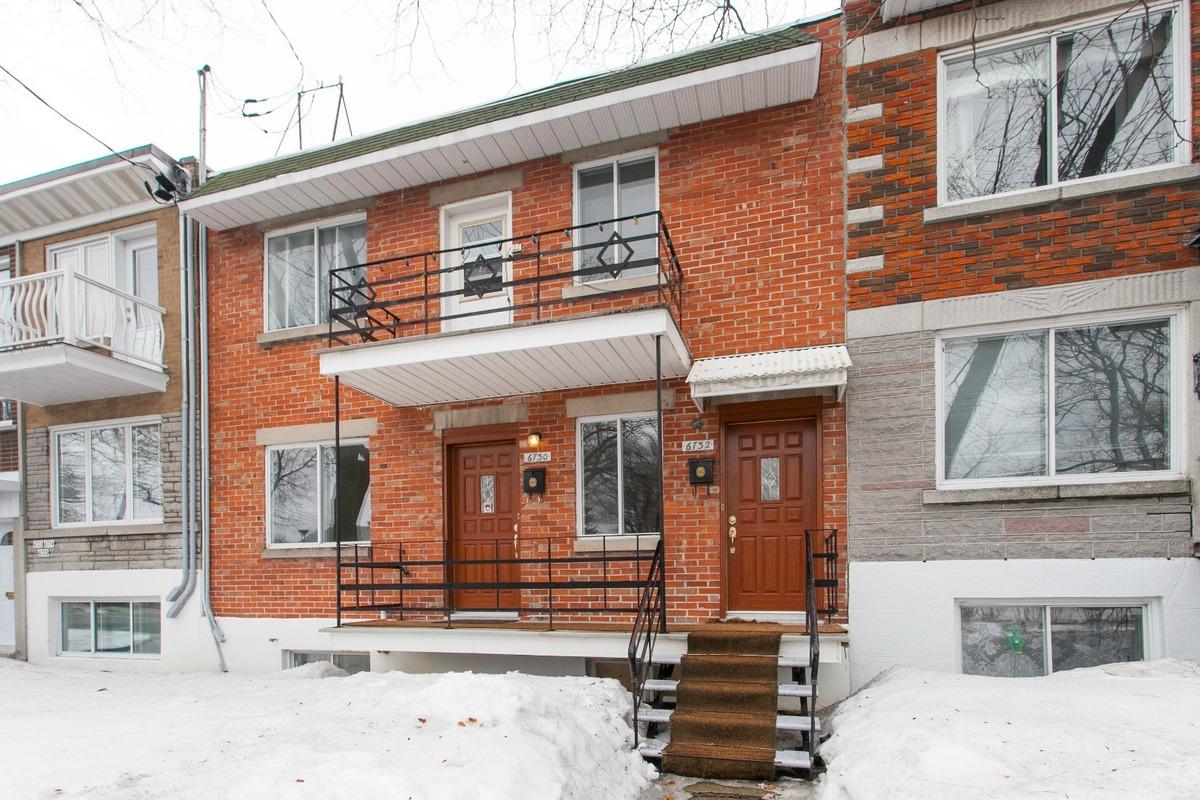 Façade - Duplex à vendre Rosemont / La Petite-Patrie