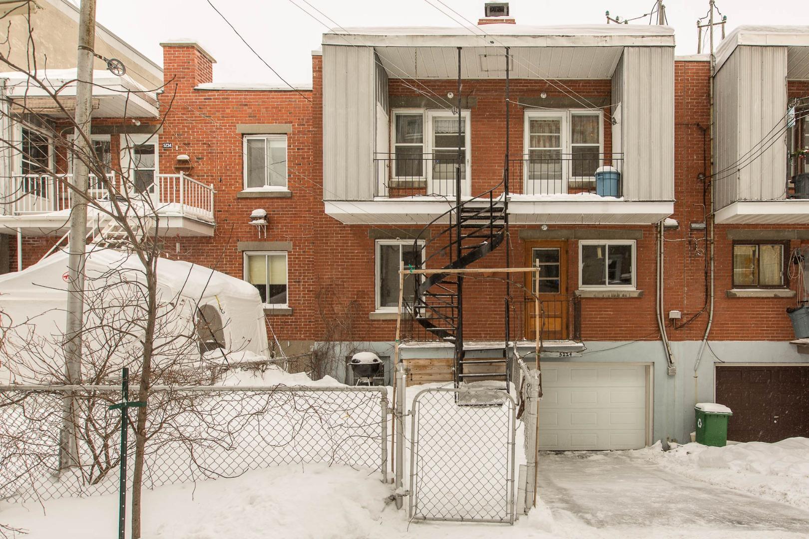 Triplex à vendre Montréal Rosemont / La Petite Patrie - Façade arrière