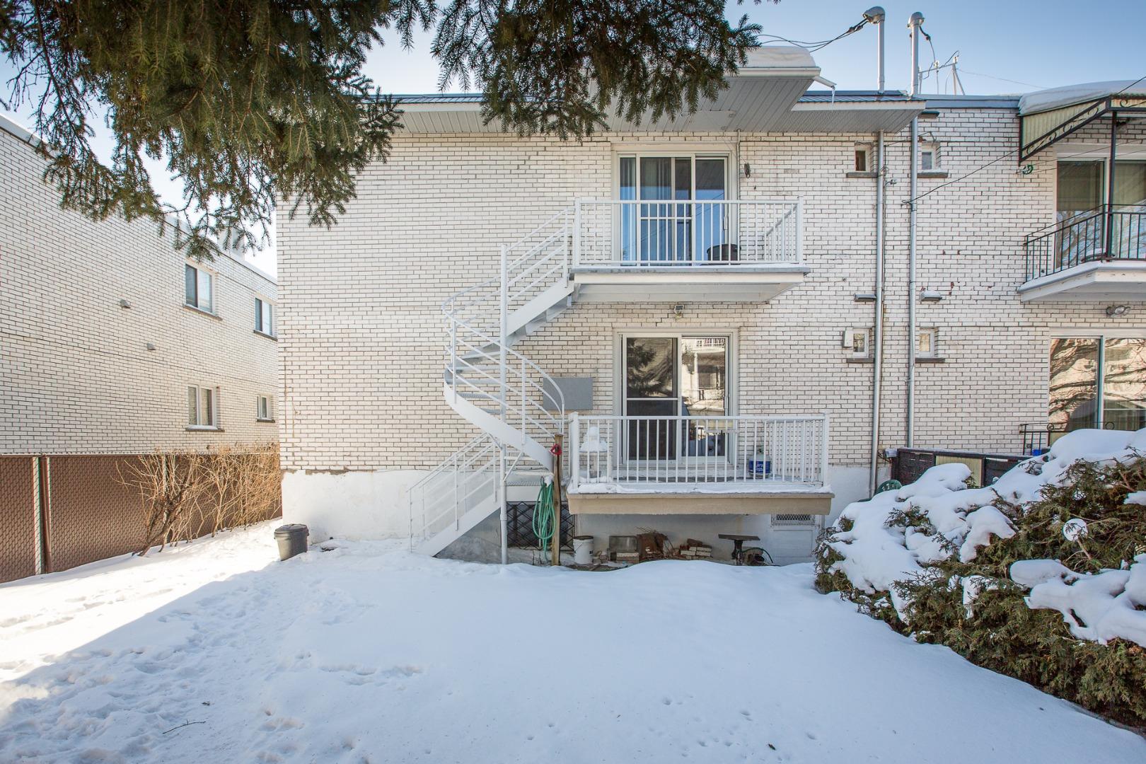 Duplex à vendre Montréal Mercier Hochelaga-Maisonneuve - Façade arrière