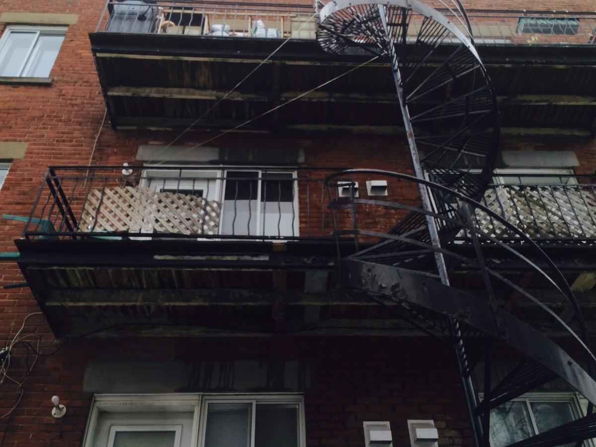 Balcon arrière - 8 logements à vendre Montréal