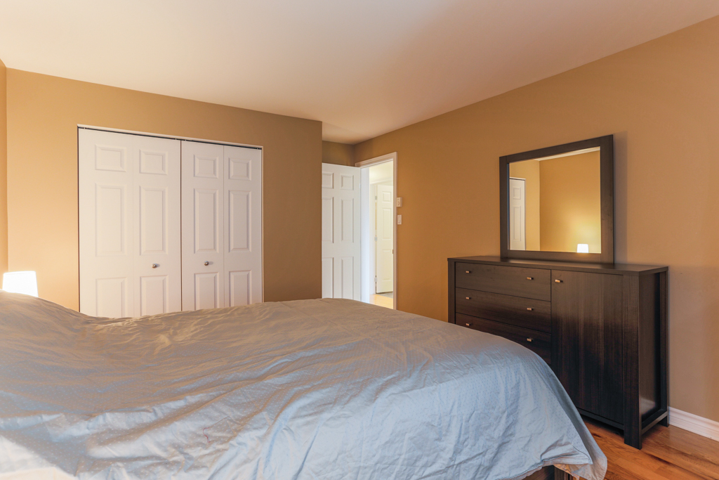 Chambre à coucher principale- Condo à vendre Montréal Villeray
