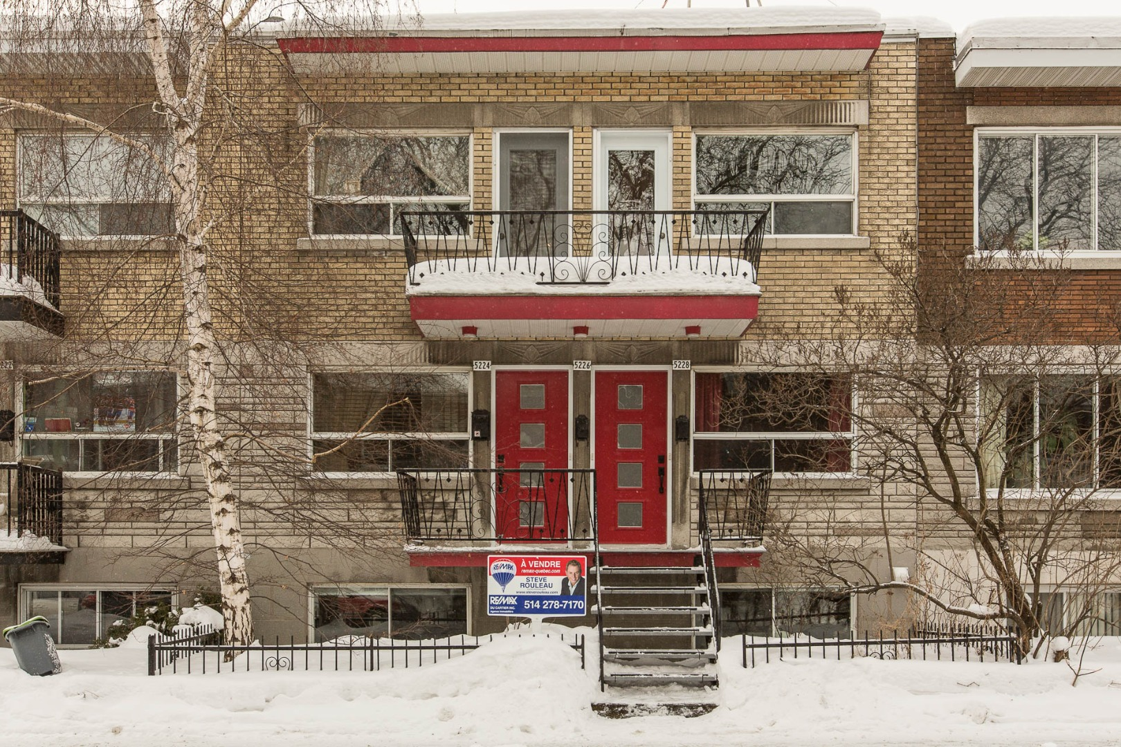 Triplex à vendre Montréal Rosemont / La Petite Patrie - Façade