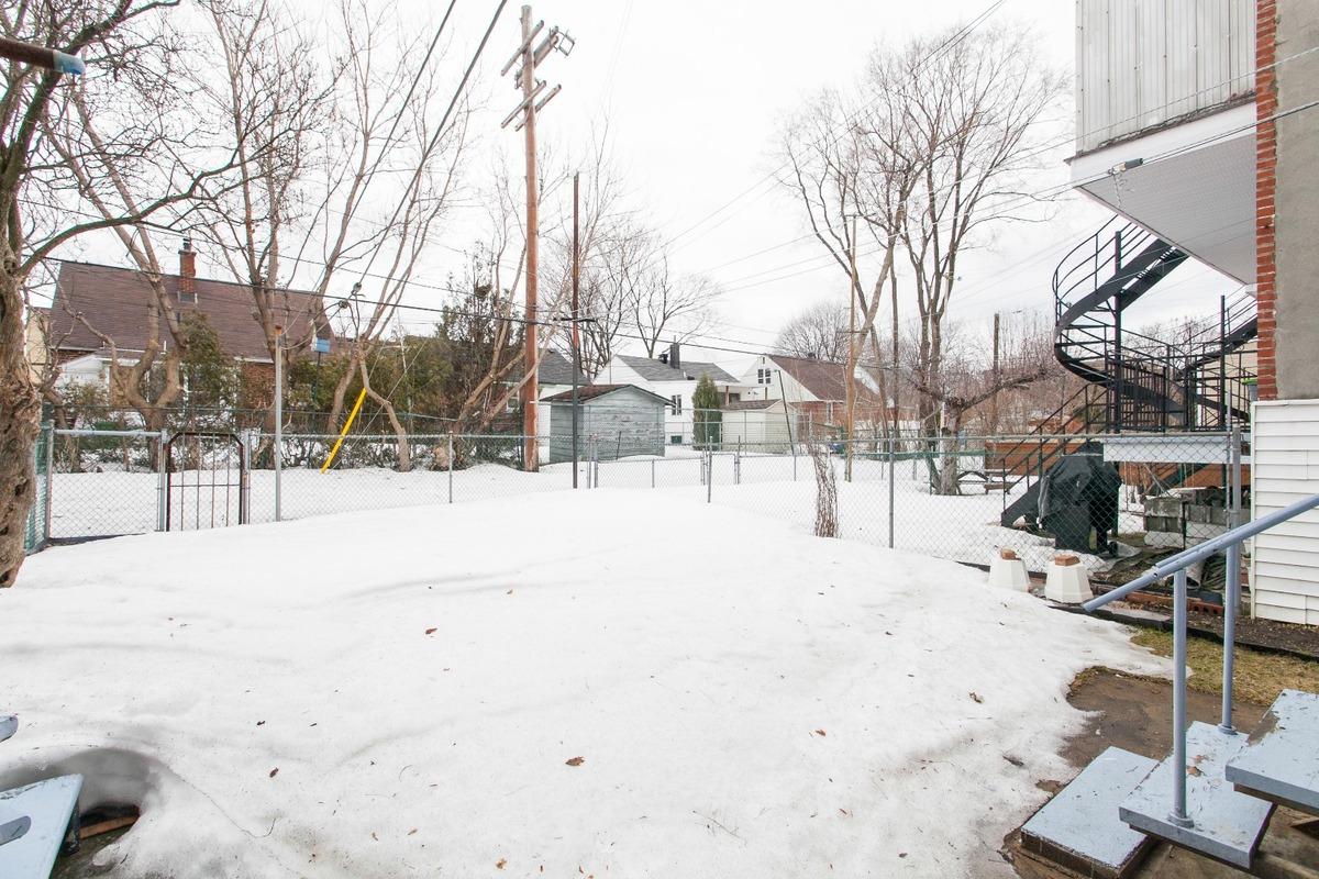 Cour - Duplex à vendre Montréal Rosemont / La Petite-Patrie