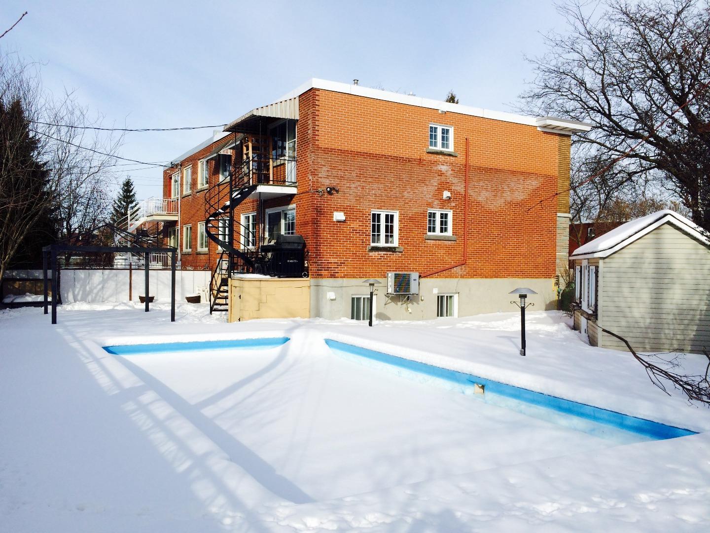 Maison à vendre Montréal Mercier Hochelaga-Maisonneuve - Cour en hiver - 4020, Av. Pierre-Chevrier