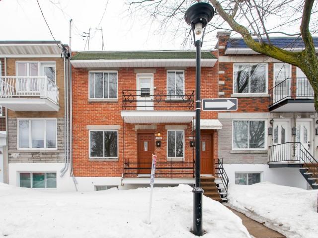 Façade - Duplex à vendre Montréal Rosemont / La Petite-Patrie